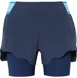 LNDR - Turf Layered Stretch-jersey And Shell Shorts - Navy
