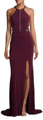 Terani Couture Glamour by Cutout Halter Gown