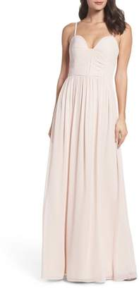 Paige Hayley Occasions Ruffle Detail A-Line Chiffon Gown