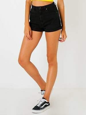 New Abrand Womens A High Relaxed Shorts In Black Denim Shorts Denim