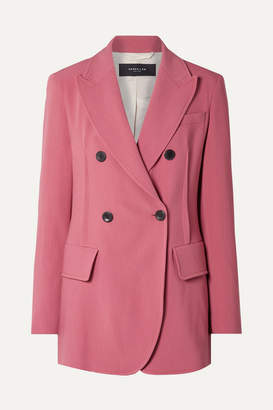 Derek Lam Oversized Double-breasted Stretch-crepe Blazer - Pink