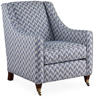 Joe Ruggiero Collection Bella Club Chair - Blue Sunbrella