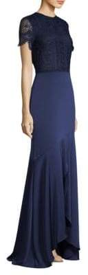 Shoshanna Lovat High-Low Gown