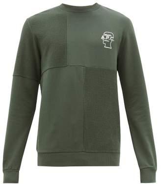 A.P.C. X Brain Dead Logo Print Cotton Sweatshirt - Mens - Khaki