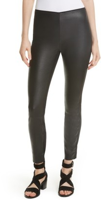 Women's Rag & Bone Josephine Leather Front Skinny Pants $695 thestylecure.com