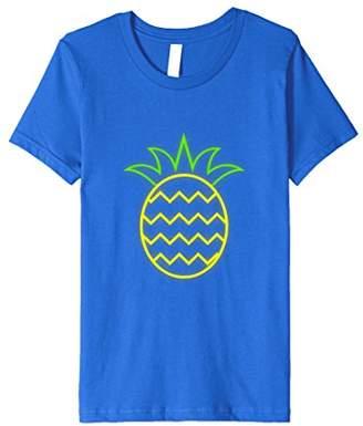 80s Neon Pineapple Aloha T-Shirt 80s Clothes for Women Men