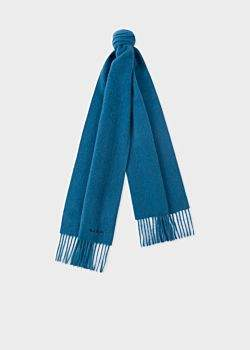 Paul Smith Petrol Blue Cashmere Scarf