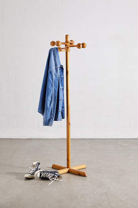 Urban Renewal Vintage Modern Pine Coat Rack