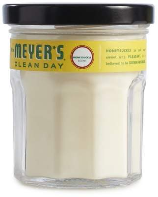 Mrs. Meyer's Clean Day Scented Soy Candle, Small Glass, Honeysuckle, 4.9 Ounces