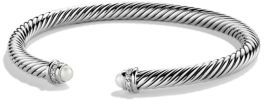 David Yurman Cable Classics Bracelet with Pearls and Diamonds $625 thestylecure.com