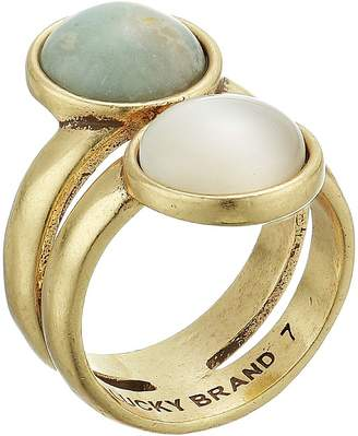 Lucky Brand Double Set Stone Ring Ring