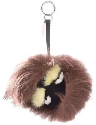 Fendi Punchy Fur Bag Bug Charm