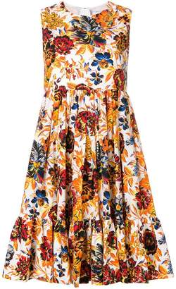 MSGM floral empire line dress