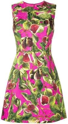Dolce & Gabbana Fig Print Brocade Dress