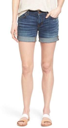 Rolled Denim Boyfriend Shorts