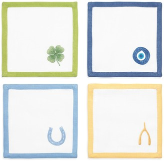 Tory Burch LUCKY CHARM COCKTAIL NAPKIN, SET OF 4