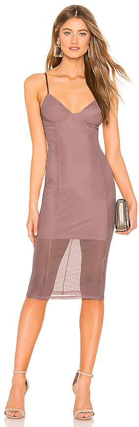 Jhene Mesh Midi Dress