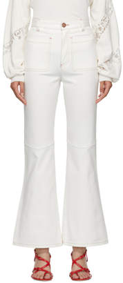 See by Chloe White Fluid Flared Jeans