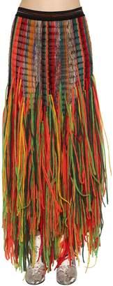 Missoni Fringed Net Wool Knit Skirt