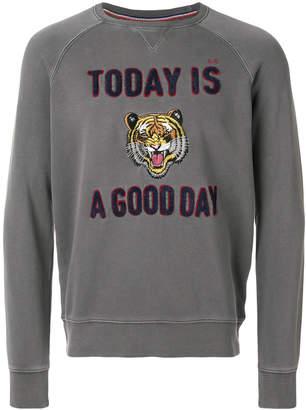 Sun 68 tiger printed sweatshirt