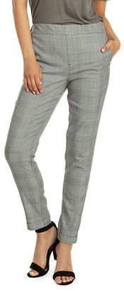 Dex Pull-On Cuffed Plaid Pants