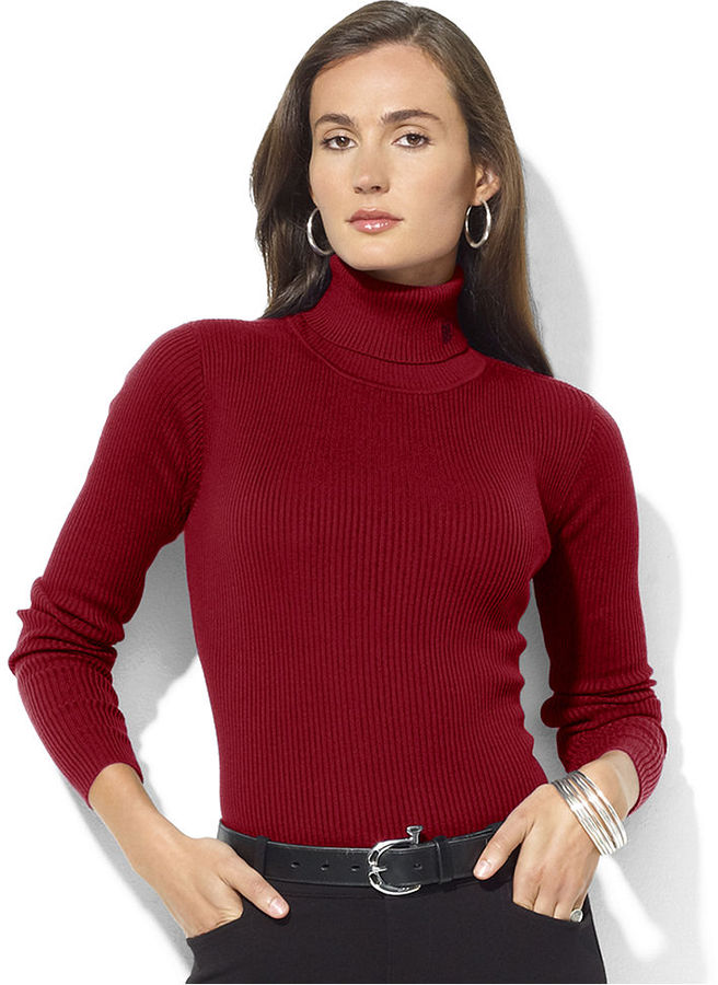 Lauren Ralph Lauren Sweater, Long-Sleeve Ribbed Turtleneck