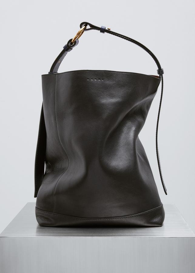 Marni black + ink + nougat shoulder bag