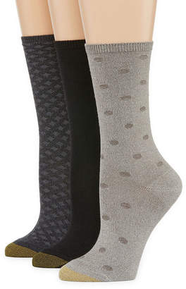 Gold Toe Ultra Soft 3 Pair Crew Socks - Womens