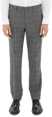 Theory Mayer Tonal Glen Plaid Dress Pants