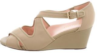 Taryn Rose Neoprene Wedge Sandals $95 thestylecure.com