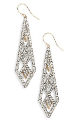 Women's Alexis Bittar Crystal Encrusted Drop Earrings $225 thestylecure.com