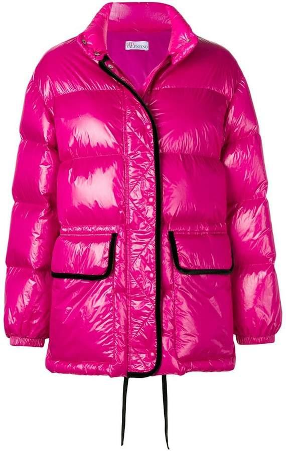 coated puffer jacket