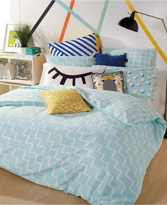 Scribble Reversible 2-Pc. Zig-Zag Twin Comforter Mini Set Bedding