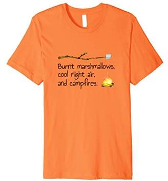 Funny Campfire T-shirt for Women-Burnt Marshmallows