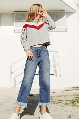 Next Girls Mid Blue Frayed Jeans (3-16yrs)