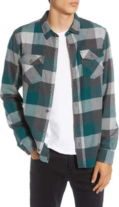 Vans Box Tailored Fit Buffalo Check Button-Up Flannel Shirt