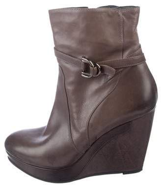 Alberto Fermani Leather Wedge Boots Leather Wedge Boots