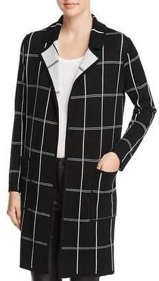 Minnie Rose Reversible Windowpane Sweater Coat