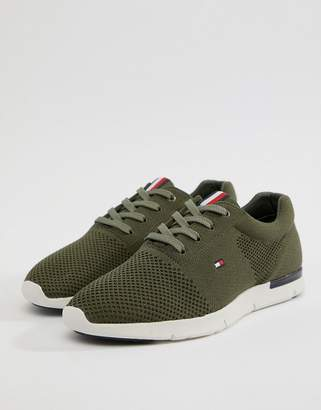 Tommy Hilfiger Tobias Knit Sneaker in Olive