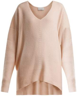 Raey V Neck Ribbed Cashmere Sweater - Womens - Nude