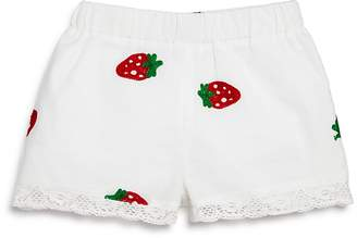 Design History Girls' Strawberry-Embroidered Shorts - Little Kid