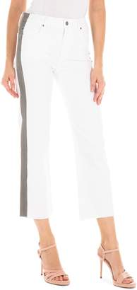 Fidelity Taylor Stripe High Waist Crop Straight Leg Jeans