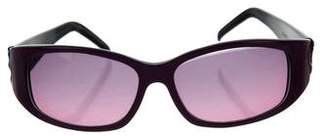 Judith Leiber Embellished Gradient Sunglasses