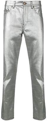Saint Laurent metallic slim fit jeans