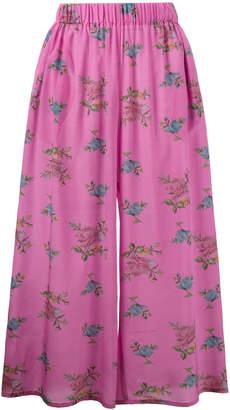 Natasha Zinko floral print wide leg culottes