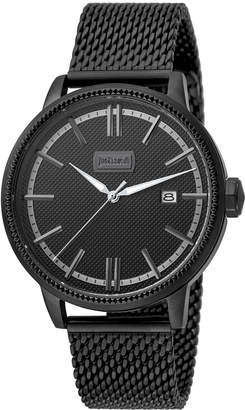 Just Cavalli 42mm Men's Relaxed Patch Watch w/ Mesh Strap