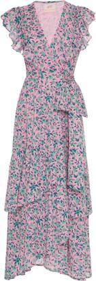 Banjanan Carra Ruffled Wrap Dress Size: XS