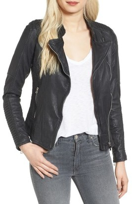 Women's Goosecraft Quilted Leather Jacket $259 thestylecure.com