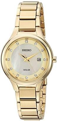 Seiko Women's 'Diamond Dial Dress' Quartz Stainless Steel Casual Watch