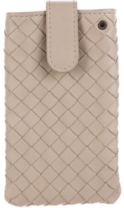 Bottega Veneta Bottega Veneta Intrecciato Leather Phone Case